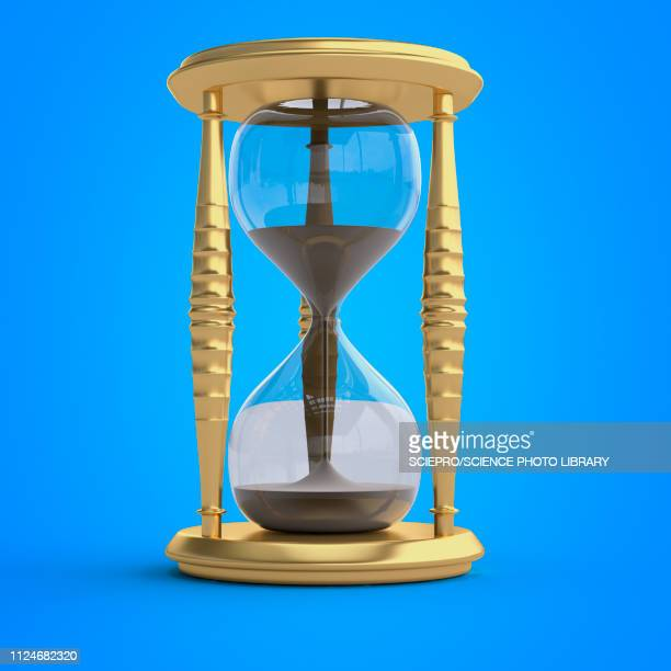 illustration of an hour glass - deadline stock illustrations
