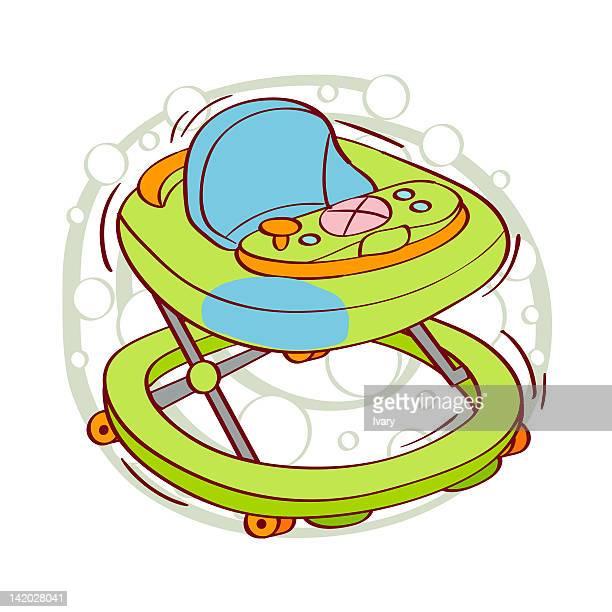 Illustration of baby walker