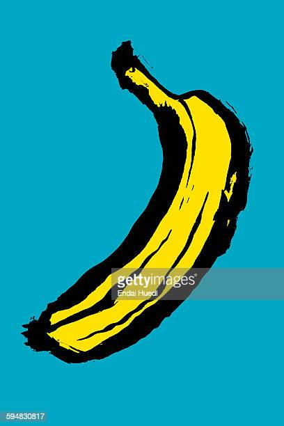 illustration of banana against blue background - banana stock illustrations, clip art, cartoons, & icons