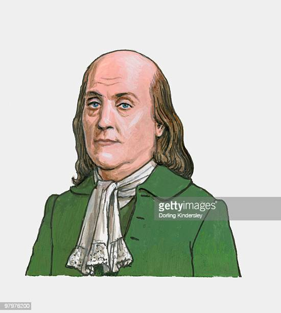 illustration of benjamin franklin - benjamin franklin stock illustrations, clip art, cartoons, & icons