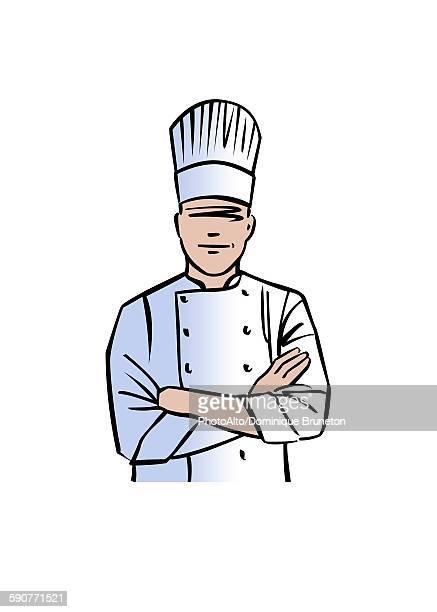 illustration of chef - chef stock illustrations