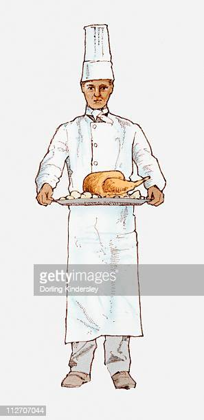Cook stock vector. Illustration of drawing, clipart, cooking - 53717228