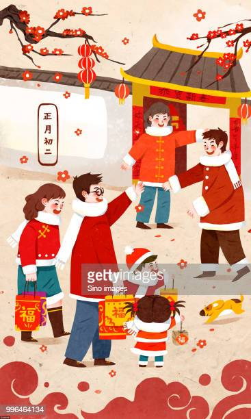 60 Top Chinese New Year Family Stock Illustrations, Clip ...