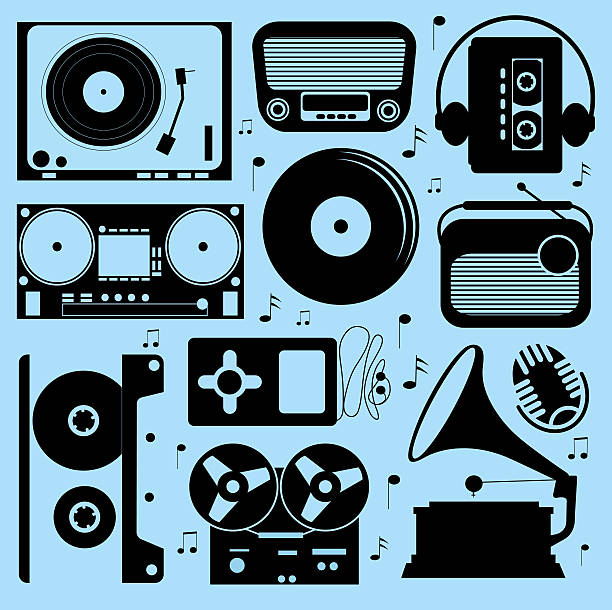 Illustration Of Different Musical Devices Wall Art