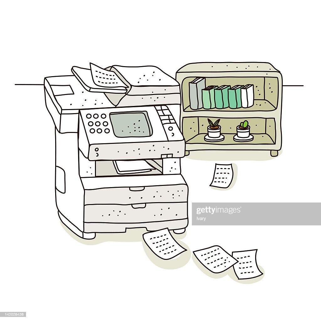 Illustration Of Digital Printer Stock Getty Images Diagram A