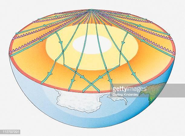Illustration of earthquake vibrations