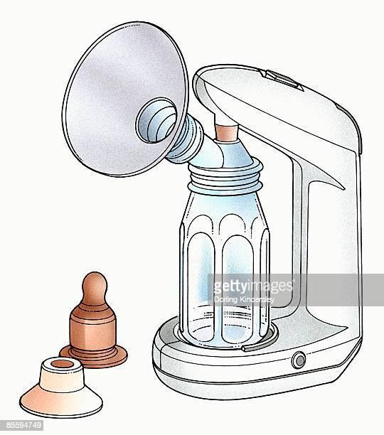 illustration of electric breast pump - breast pump stock illustrations