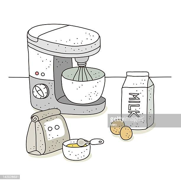 Illustration of electric mixer