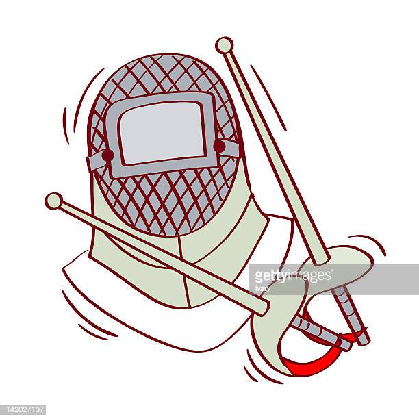 Fencing Foil Stock Illustrations and Cartoons