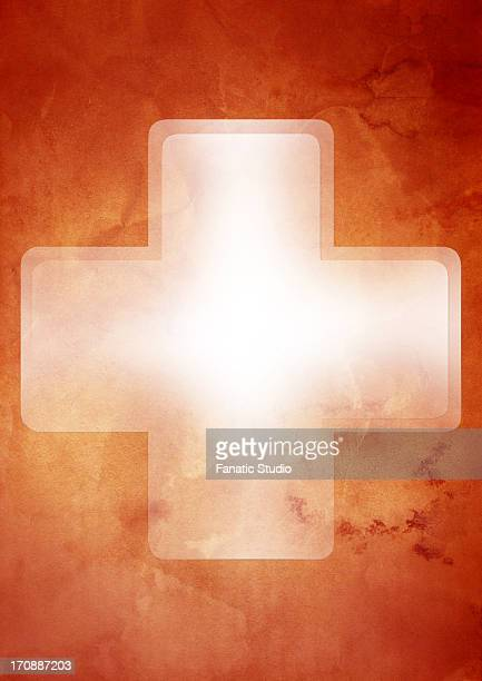 illustration of first aid sign over colored background - relief emotion stock illustrations, clip art, cartoons, & icons