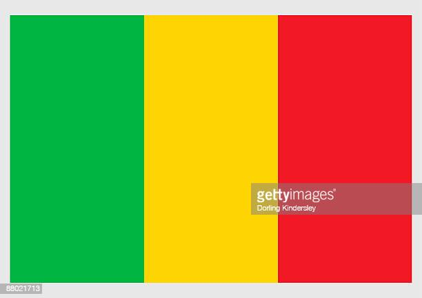 illustration of flag of mali, a tricolor of green, yellow, and red equal vertical stripes - mali stock illustrations, clip art, cartoons, & icons