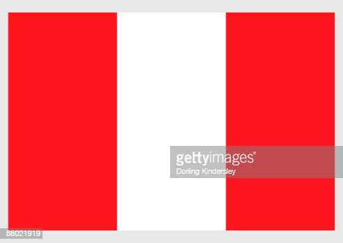 Illustration Of Flag Of Peru With Three Vertical Bands Of ...