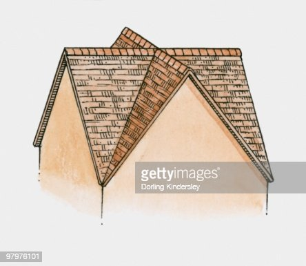 Illustration Of Gable And Valley Roof Stock Illustration