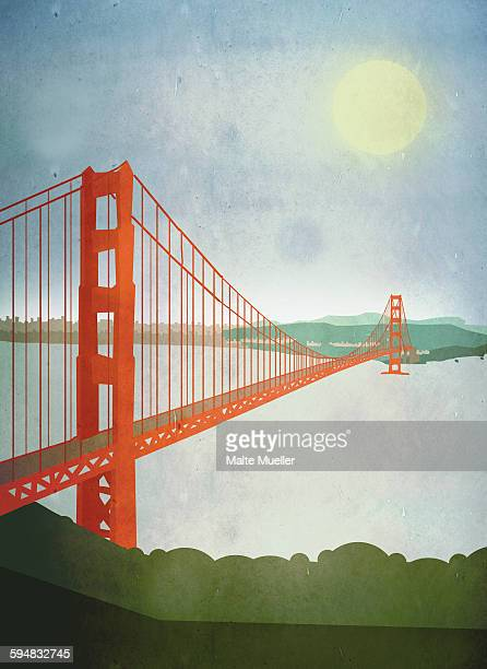 330 A San Francisco Golden Gate Bridge Blueprint Plan