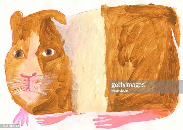 Illustration of guinea pig
