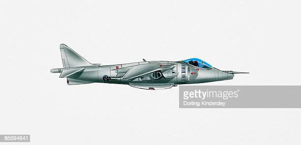 illustration of harrier gr7a military fighter aircraft - obscured face stock illustrations, clip art, cartoons, & icons