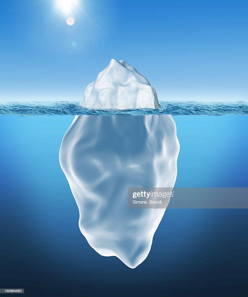 3D illustration of Iceberg : stock illustration
