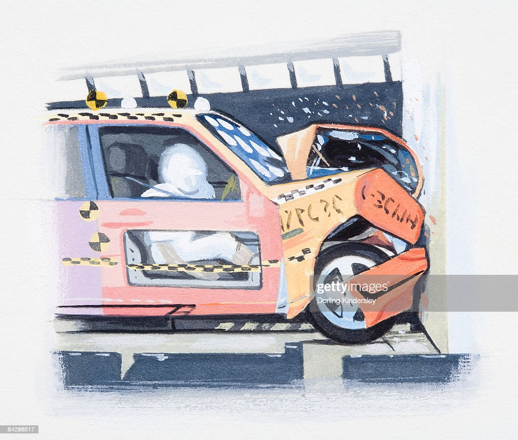 Illustration Of Imitating Car Crash Using Crash Test Dummy Stock ...