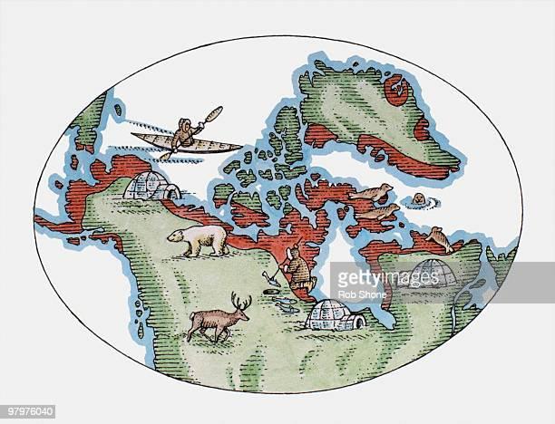 Illustration of Inuit territory