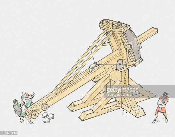 Illustration of large Roman catapult