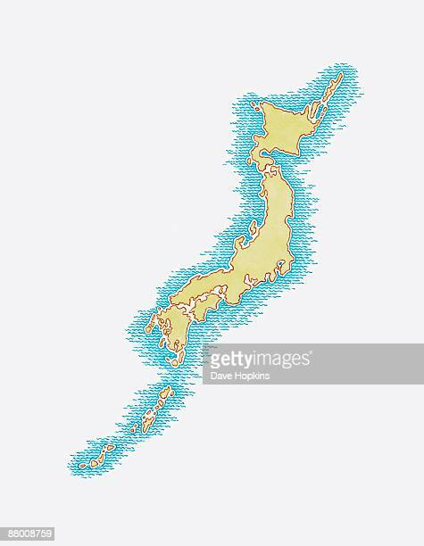 Illustration of map of Japan
