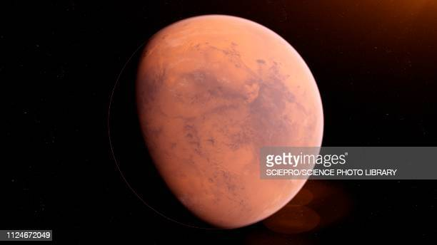 illustration of mars - planet space stock illustrations