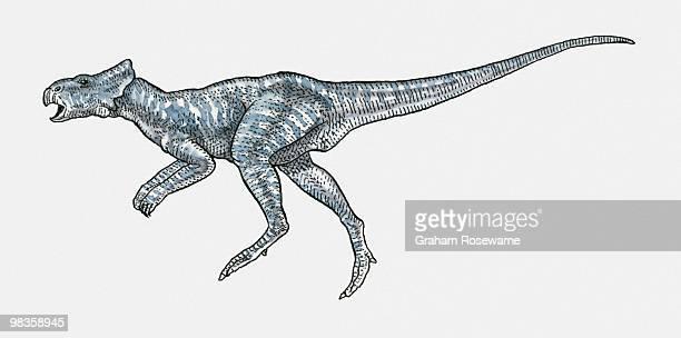Illustration of Microceratus ceratopsian dinosaur