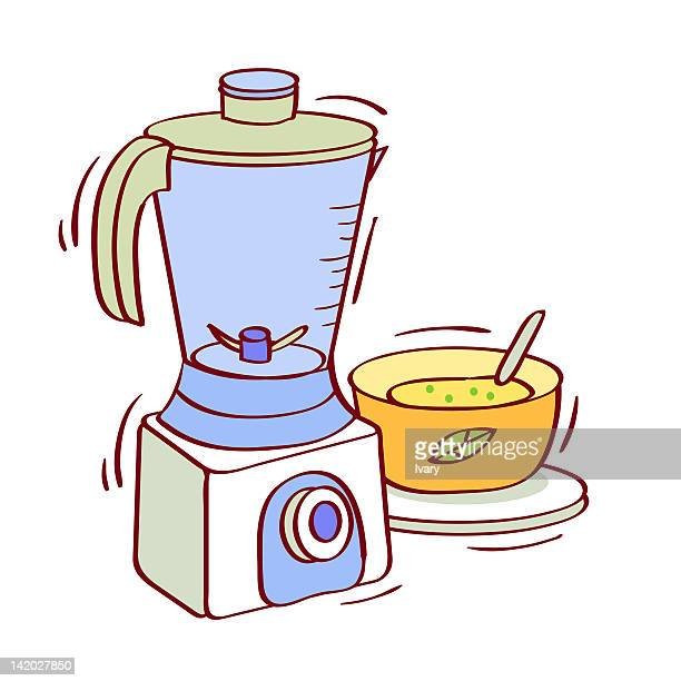 Illustration of mixer grinder with a bowl