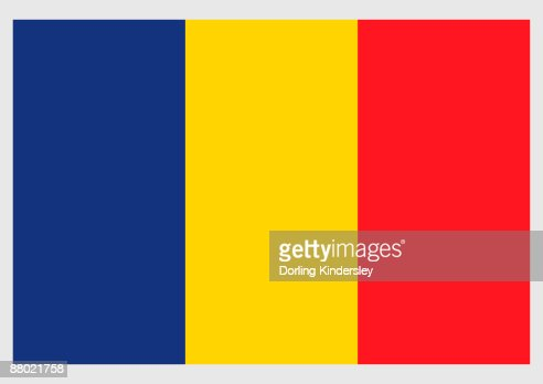 Illustration Of National Flag Of Romania A Vertical