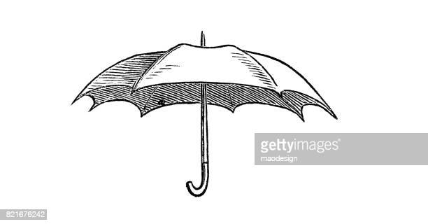 Illustration of opened umbrella - 1867