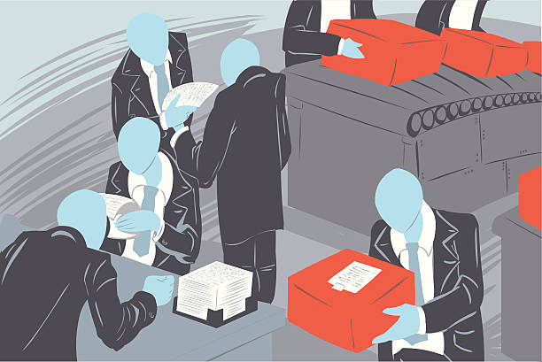 Illustration of people working in a company