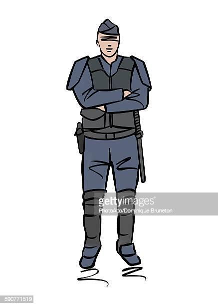 illustration of police officer or gendarme - army stock illustrations