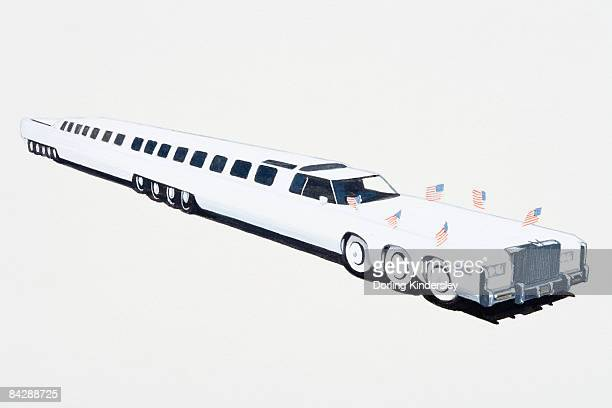 Illustration of record breaking stretch limousine