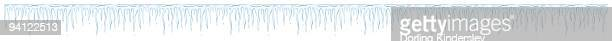 Illustration of row of icicles