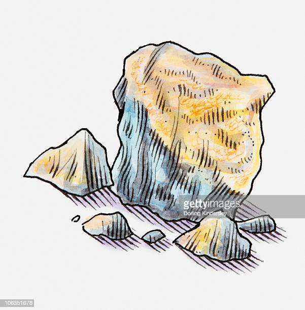 illustration of sandstone rocks - sandstone stock illustrations, clip art, cartoons, & icons