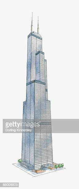 World's Best Willis Tower Stock Illustrations - Getty Images