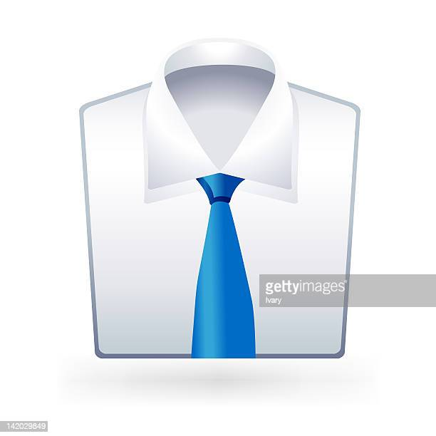 Illustration of shirt and tie