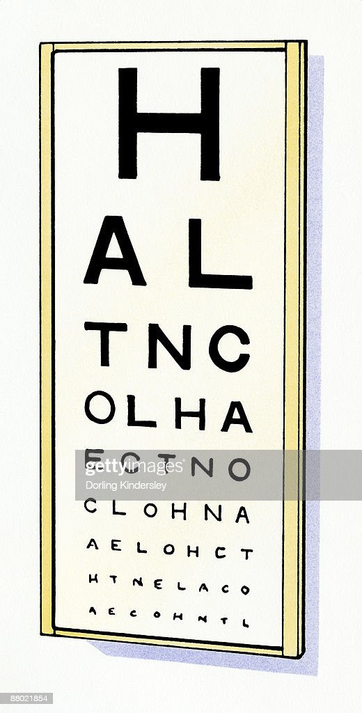 Illustration Of Sight Test Chart Stock Illustration Getty Images