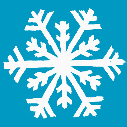 Illustration of snow flake against blue background - gettyimageskorea