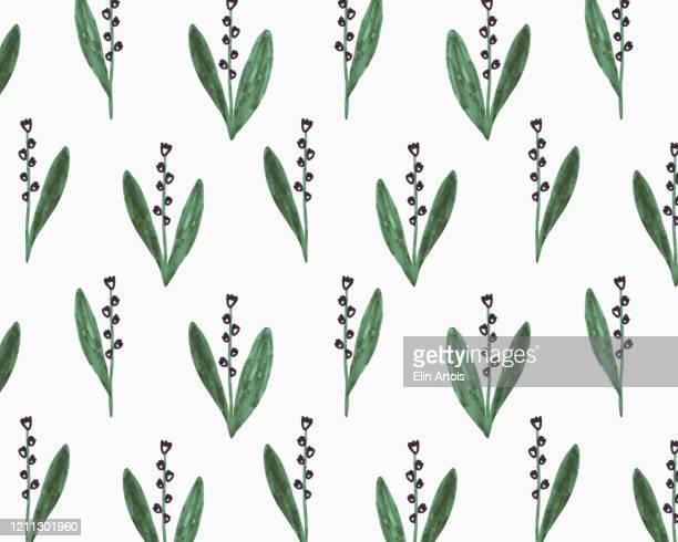 illustration of snowdrop flowers on white background - 花柄 イラスト点のイラスト素材/クリップアート素材/マンガ素材/アイコン素材