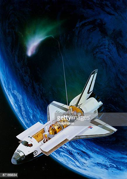 Illustration of space shuttle & Space Lab I