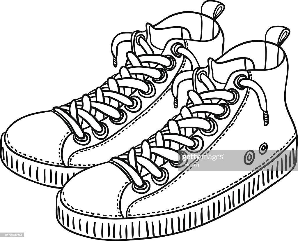 Images Getty Illustration Clipart Xfqrx6t7 Vectoriel Chaussures Sport De qHpvEgWwv5