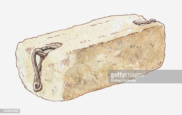 illustration of stone of scone, also known as stone of destiny - sandstone stock illustrations, clip art, cartoons, & icons