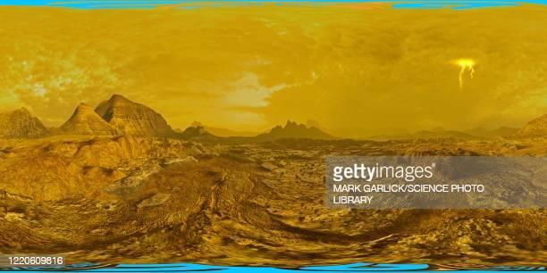 vr illustration of surface of venus - venus planet stock illustrations