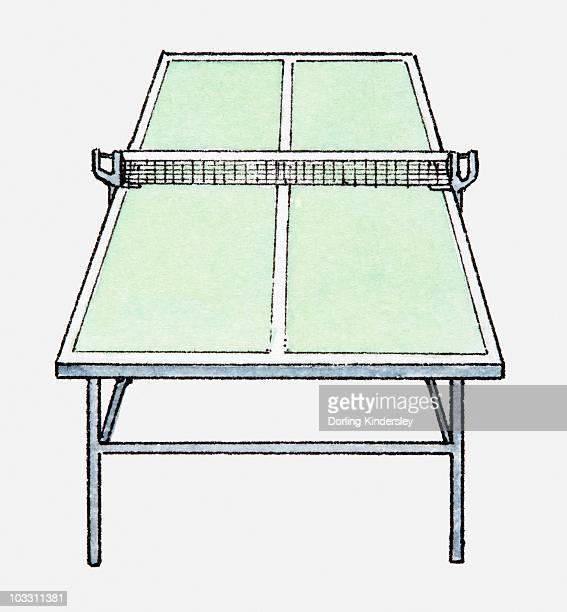 Illustrations et dessins anim s de table de ping pong - Dessin tennis de table ...