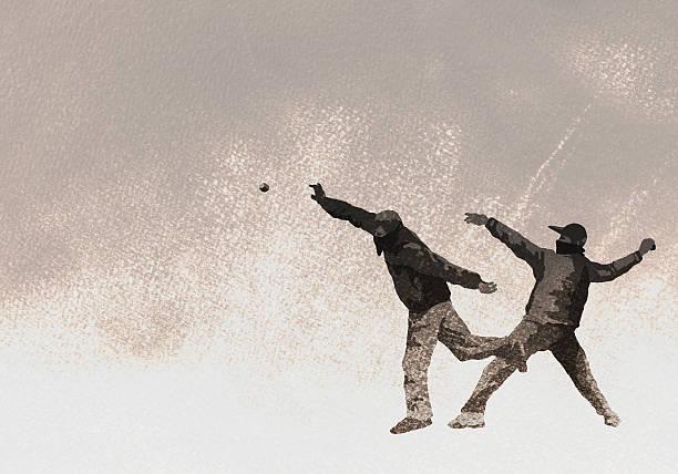 Illustration of terrorists throwing bomb