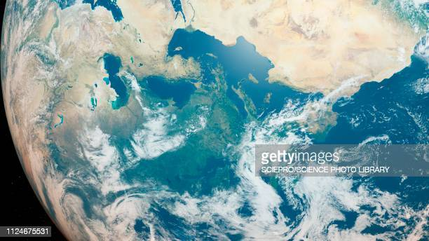 illustration of the earth from space - planet space stock illustrations