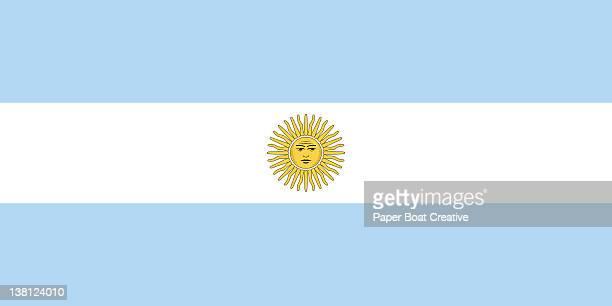 ilustraciones, imágenes clip art, dibujos animados e iconos de stock de illustration of the national flag of argentina - bandera argentina