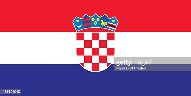 illustration of the national flag of croatia - croatian flag stock illustrations, clip art, cartoons, & icons