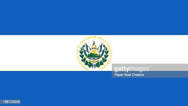 illustration of the national flag of el salvador - エルサルバドル国旗点のイラスト素材/クリップアート素材/マンガ素材/アイコン素材